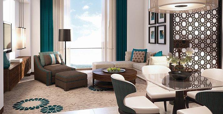 Suite Wohnzimmer - Fairmont Abu Dhabi Marina