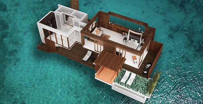 Park Sunset Ocean Pool Villa (Modellbild) Park Hyatt Maldives Hadahaa
