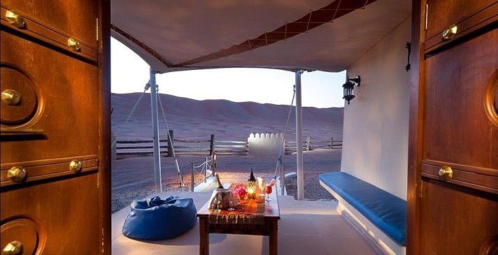 Deluxe Tented Suite Patio - Desert Nights Camp