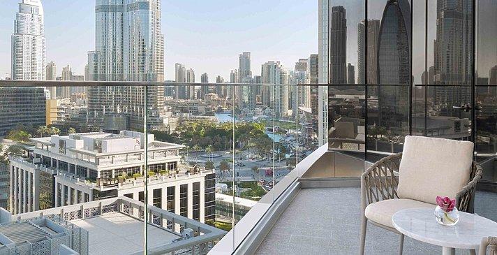 Premier Sky/Club Burj View Balkon
