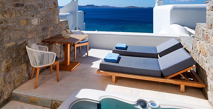 Premium Sea View Room mit Jacuzzi - Mykonos Grand Hotel & Resort