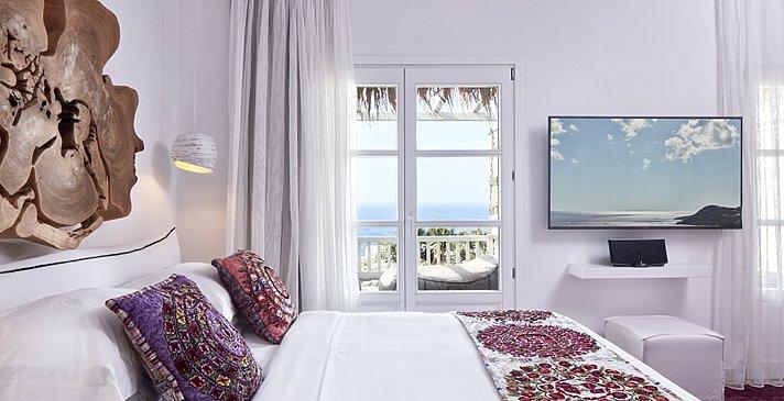 Prestige Guestroom Sea View - Myconian Villa Collection