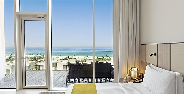 Schlafzimmer Premier Suite - The Oberoi Beach Resort, Al Zorah