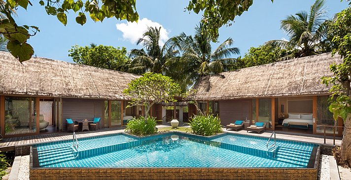 2 BR Family Beach Villa Private Pool - Shangri-La`s Villingili Resort and Spa