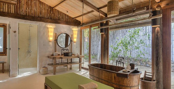 Six Senses Ninh Van Bay - Beachfront Pool Villa Badezimmer