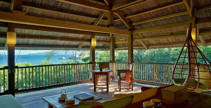 Six Senses Ninh Van Bay - Beachfront Pool Villa Wohnzimmer