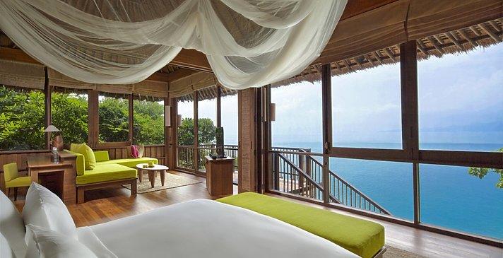 Ocean Front Pool Villa Suite Schlafzimmer - Six Senses Samui