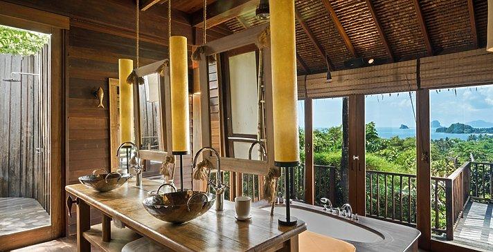Ocean Pool Villa Badezimmer - Six Senses Yao Noi