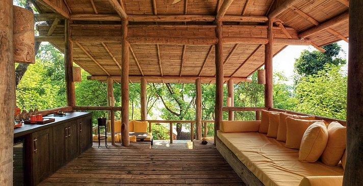 Soneva Kiri - Bayview Pool Villa Suite Wohnbereich