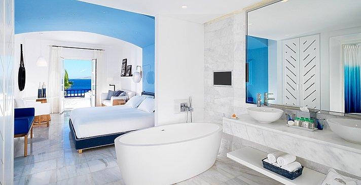 Suite sep. Wohnzimmer - Mykonos Grand Hotel & Resort