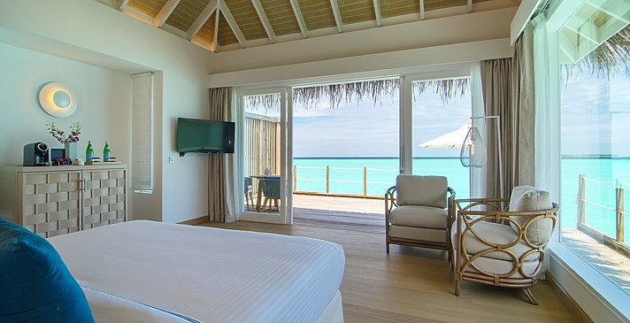 (Sunset) Water Villa Schlafzimmer - Baglioni Resort Maldives
