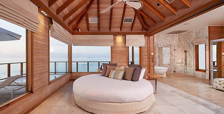 Sunset Water Villa Schlafzimmer - Conrad Maldives Rangali Island
