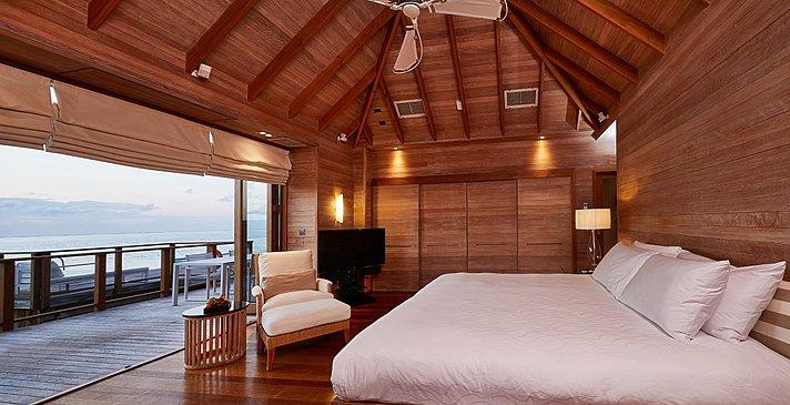 Sunset Water Villa zweites Schlafzimmer - Conrad Maldives Rangali Island