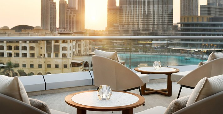Terrasse der Club Lounge - The Address Downtown Dubai