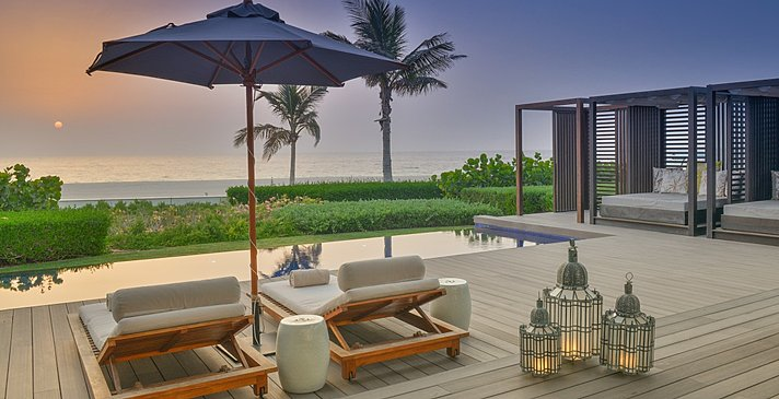 Terrasse der Two Bedroom Pool Villa - The Oberoi