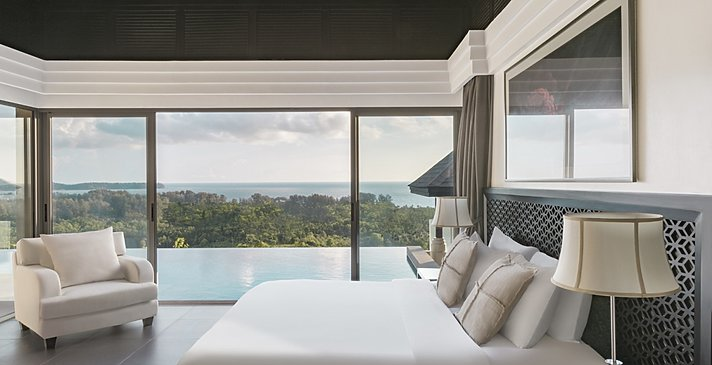 Ocean View Pool Villa Schlafzimmer - The Pavilions Phuket