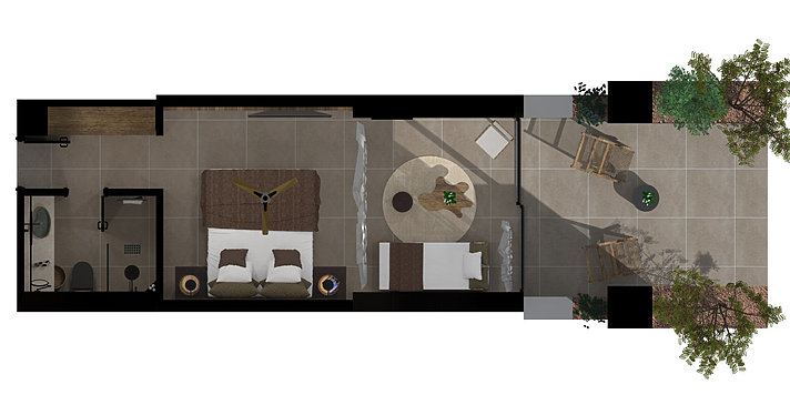 Tropical Open Plan Suite - Domes of Corfu