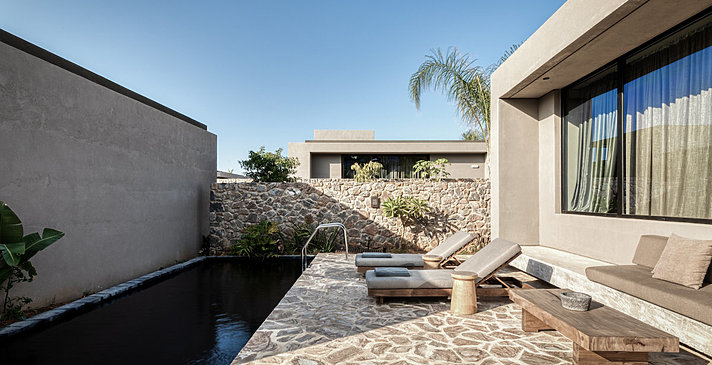 Tropical Open Plan Suite Shared Pool - Domes Zeen Chania