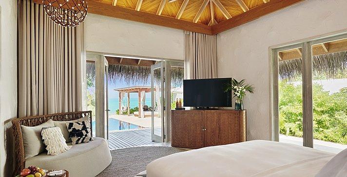 Two Bedroom Sunset Villa Schlafzimmer - Fairmont Maldives Sirru Fen Fushi