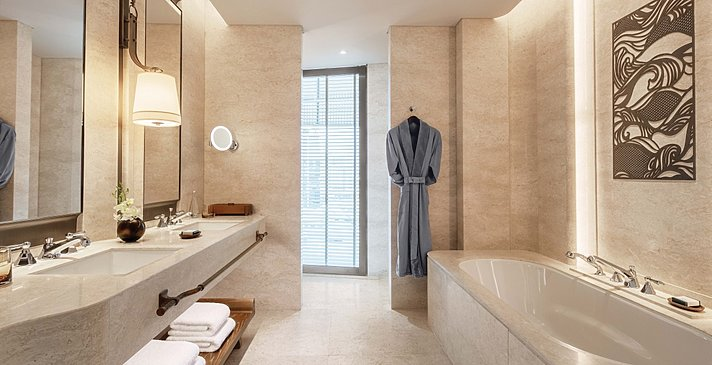 Deluxe Room - Badezimmer - Waldorf Astoria Bangkok