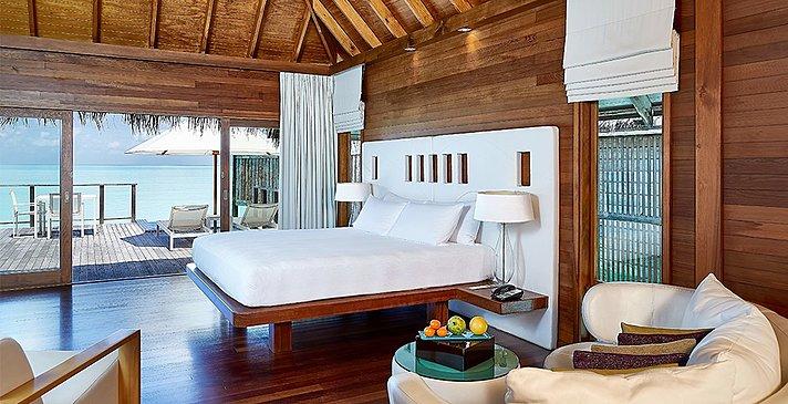 Water Villa Schlafzimmer - Conrad Maldives Rangali Island