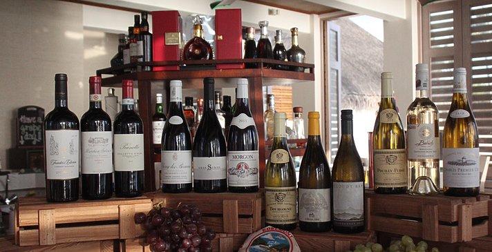Weinauswahl - OZEN at Maadhoo
