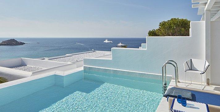 White Bliss Pool - Myconian Ambassador Relais & Chateaux