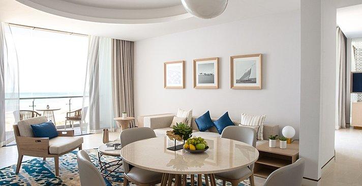Wohn- und Essbereich Ocean- und Family Suite