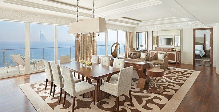 Wohn- und Essbereich Waldorf Astoria Suite