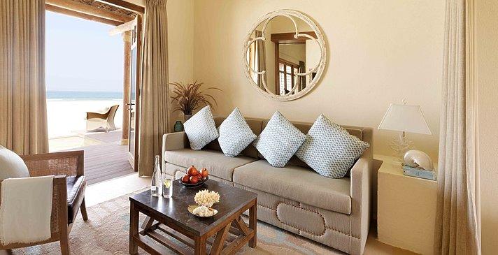 Wohnbereich One Bedroom Villa (hier Beach Villa)