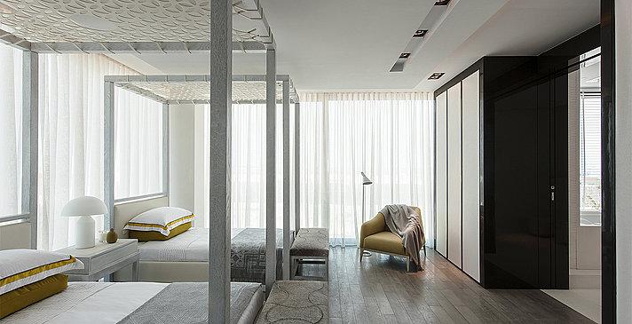 Schlafzimmer der Water Villa - Zaya Nurai Island
