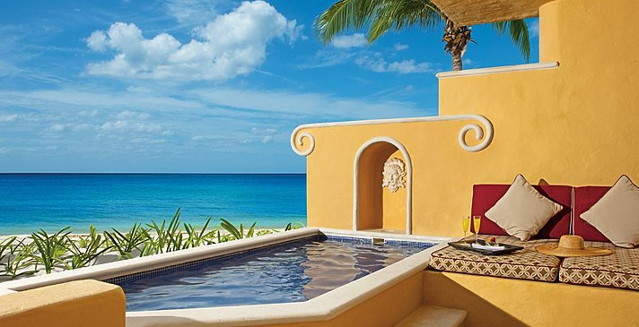 Romance Ocean Front 1 BR Suite mit Pool - Zoetry Paraiso de la Bonita