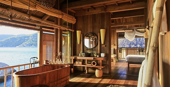 Six Senses Ninh Van Bay - Water Pool Villa Badezimmer