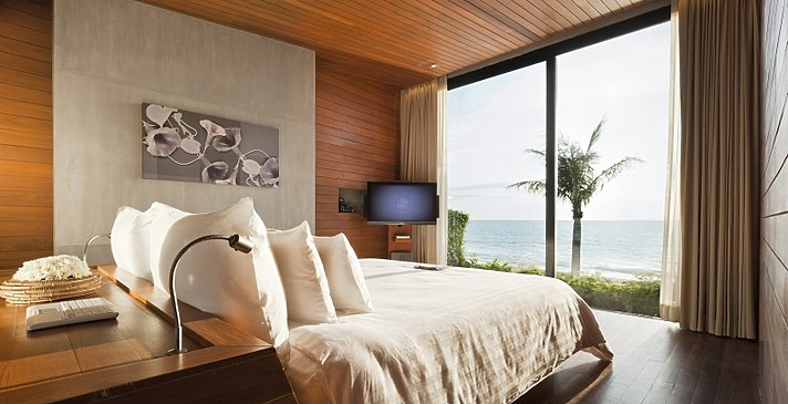 Casa de La Flora - Beachfront Pool Villa Schlafzimmer