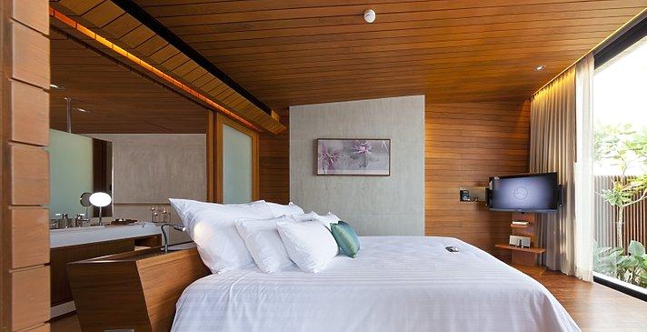 Casa de La Flora - Beachfront Suite Pool Villa Schlafzimmer