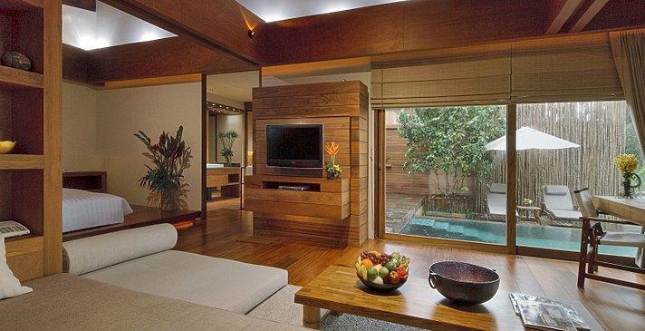 Wanakarn Beach Resort & Spa - Pool Villa Wohnzimmer