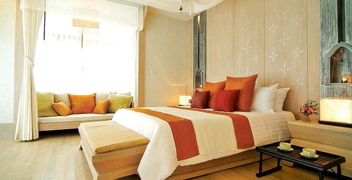 Melati Beach Resort & Spa - Pool Villa Schlafzimmer