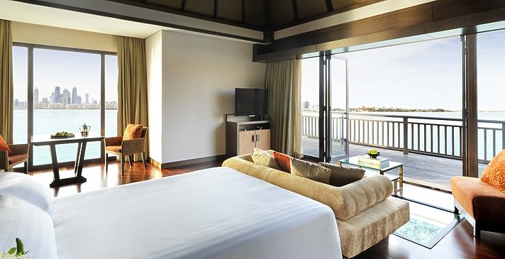 One Bedroom Overwater Villa Schlafzimmer - Anantara Dubai The Palm Resort & Spa