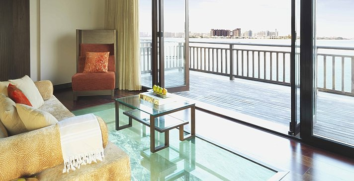 One Bedroom Overwater Villa Lounge - Anantara Dubai The Palm Resort & Spa