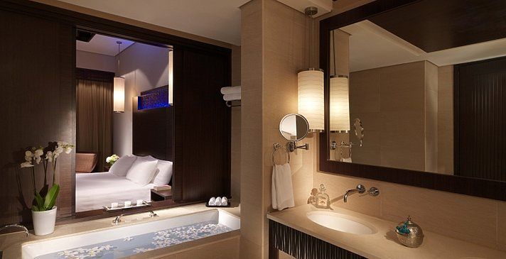 Premier Lagoon (Access) Badezimmer - Anantara Dubai The Palm Resort & Spa