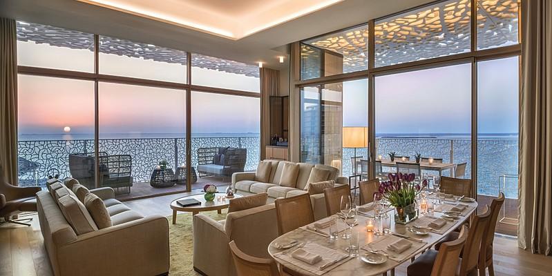 Bulgari Suite Wohn- und Essbereich