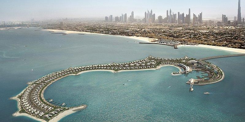 Modellbild Jumeirah Bay Island mit Bulgari Resort Dubai