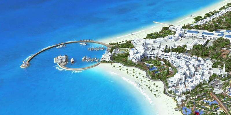 Vogelperspektive - Hilton Salwa Beach Resort