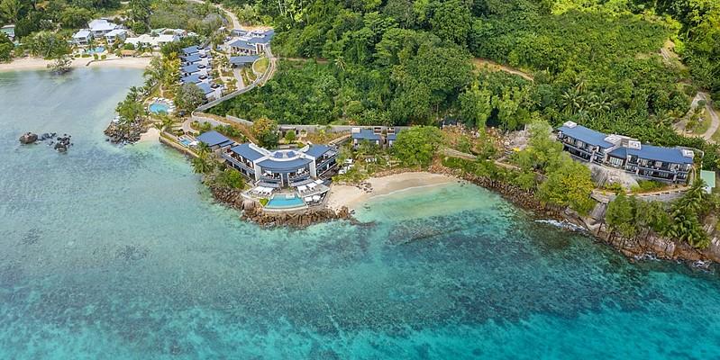 Vogelperspektive - Mango House Seychelles