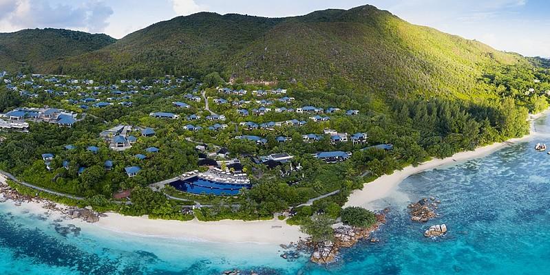 Vogelperspektive - Raffles Seychelles