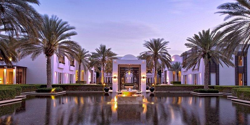 Wassergarten des The Chedi - Muscat