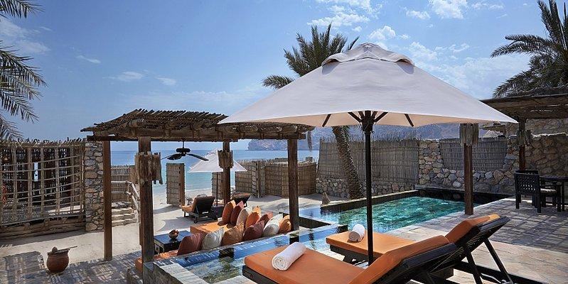 Wohnbeispiel Beachfront Pool Villa Suite - Six Senses Zighy Bay